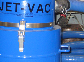 mud vac and jet vac system industrial cleaning vacuum small range